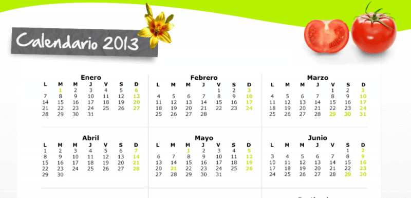 Calendario - Coprocam